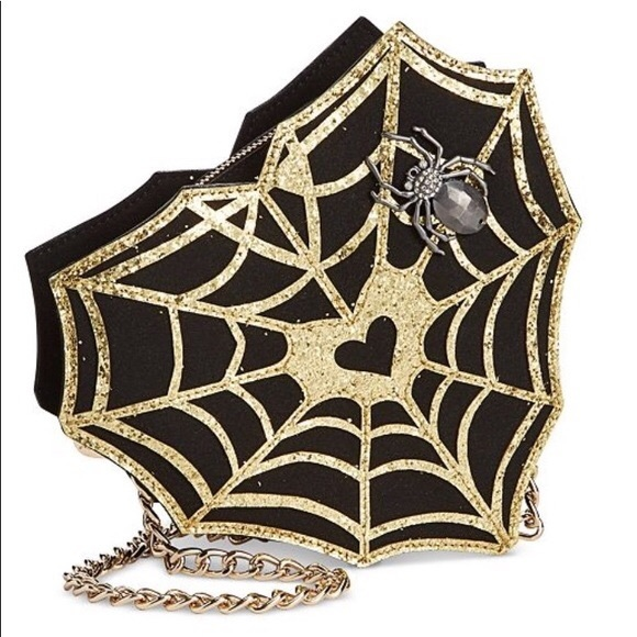 Betsey Johnson spider web purse